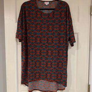 LuLaRoe multi-colored Irma shirt M NWT